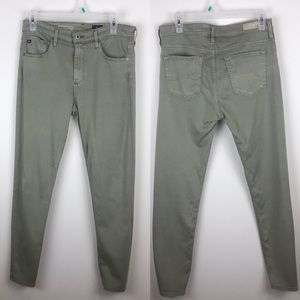 AG 29 Farrah Skinny Crop High-Rise Green Pant E154